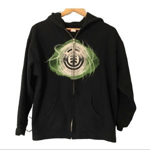 Element Youth Hoodie Black with Front Graphic Logo